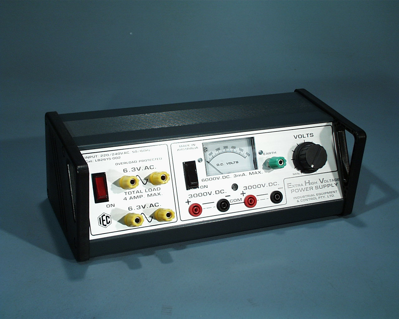 Power Supply Variable Ehv 0 6kvdc 3ma 2x63vac Lb2615 001 Supplies