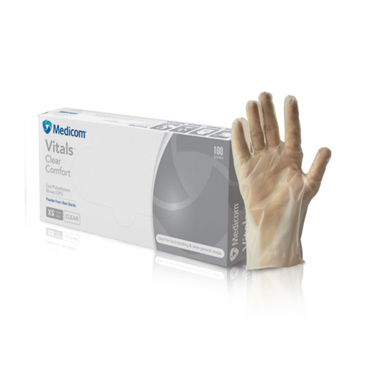 Gloves, Vitals™ Clear Comfort CPE MED