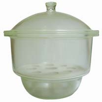 Desiccator, Glass, with Plain Lid, 210mm diam.