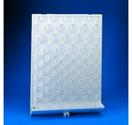 Draining Rack, High Impact Polystyrene, 72 Pegs