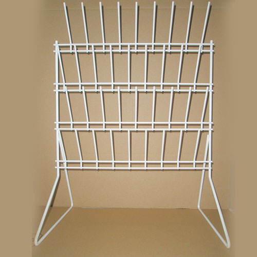 Draining Rack, Bench Mounting, Coated Wire, 36 x 50cm