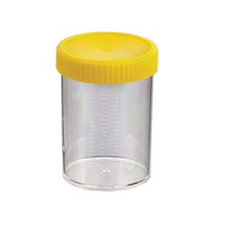 Container, Unlabelled, Yellow Capped, Sterile, 250ml, Carton of 147