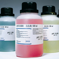 Buffer Solution, pH 4, Coloured (Red), 500ml