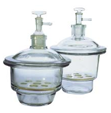 Desiccator, Glass, with Vacuum Lid, 150mm diam.