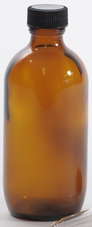 Bottle, Glass, Amber, 100ml