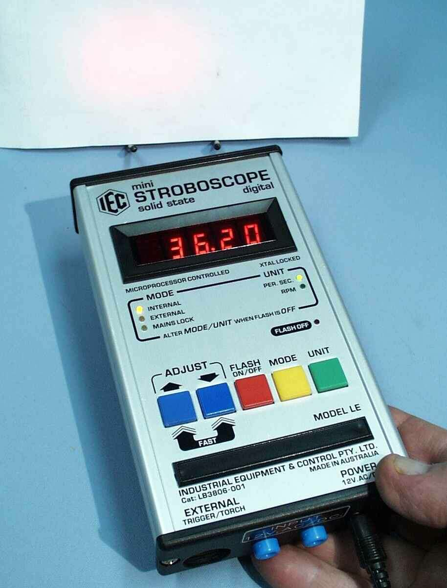 Stroboscope, LED, Digital, mini, 12VAC/DC