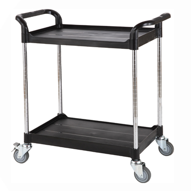 Trolley, Adjustable Height, 2 Shelves
