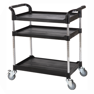 Trolley, Adjustable Height, 3 Shelves