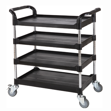 Trolley, Adjustable Height, 4 Shelves