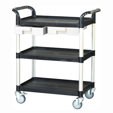 Trolley with 3 Shelves and 2 Drawers