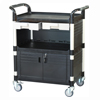 Trolley with 3 Shelves, 2 Drawers, Side Panels & 2 Cabinets