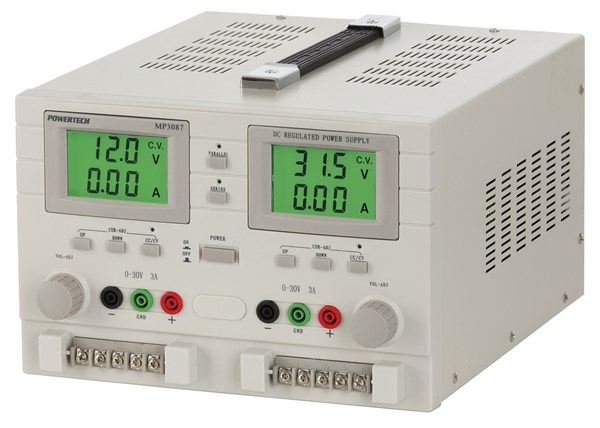 Power Supply, 0 to 32VDC 3A Dual Output, Dual Tracking