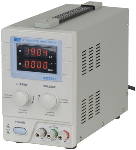Power Supply, 0 to 30VDC, 0 to 5A Regulated